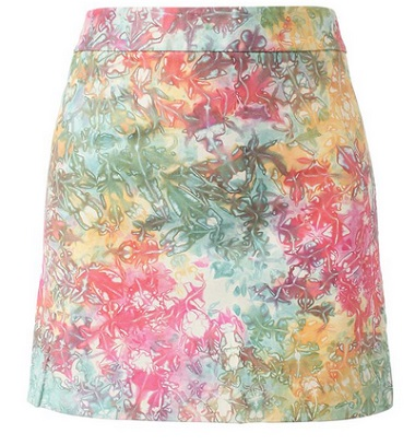 house of holland tie dye leather mini skirt