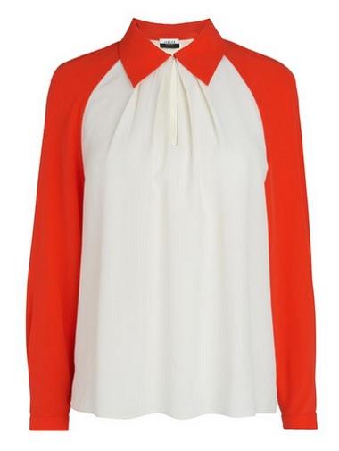 jaeger colour block blouse